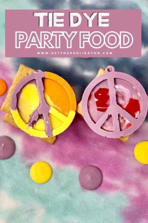 Tie dye party food a fun summer treat.