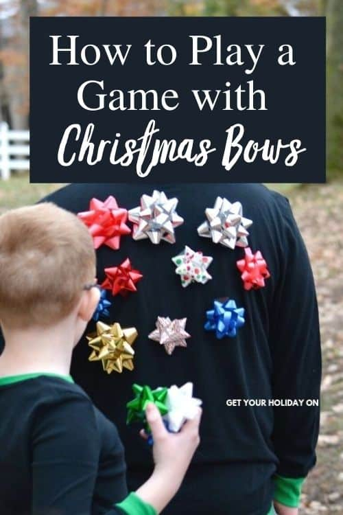 Learn how to play a game with Christmas bows! It's super cool and extremely budget friendly! #minutetowinit #play #party #christmas