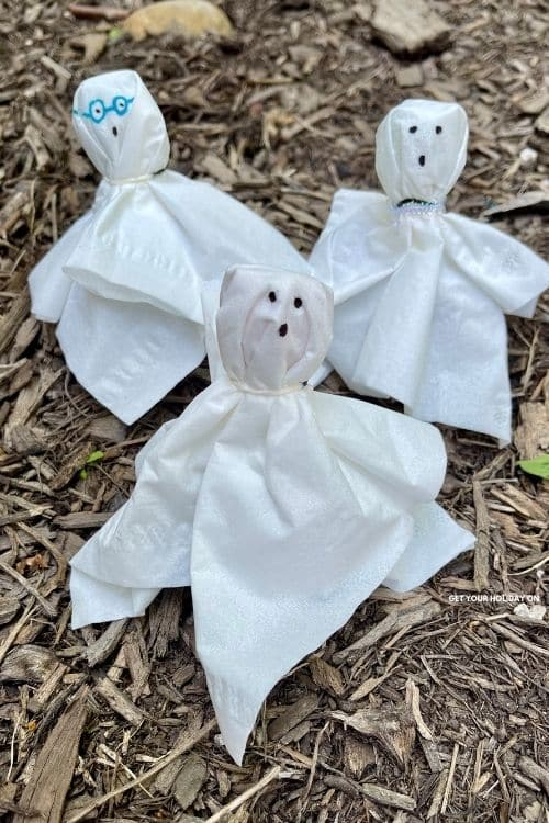 Teaching someone how to make a ghost craft.