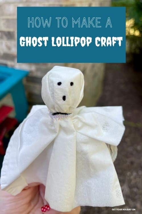 how to make a ghost lollipop craft.
