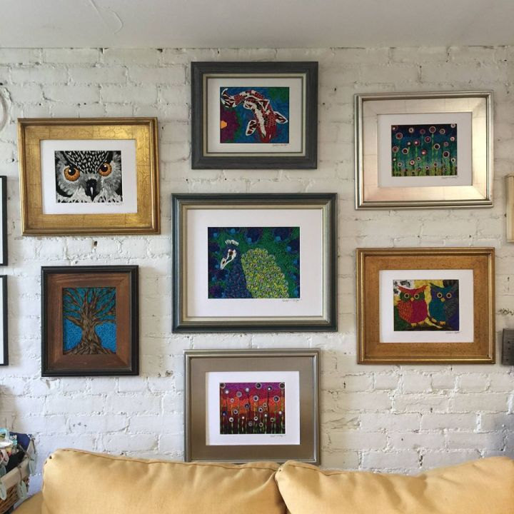 This is the set of images currently for sale at the art gallery and store Mormor in Shelburne Falls Mass. This photo was taken by Carrie Keefe and she maintains the copyright.