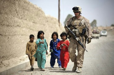 kids and soilder