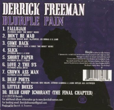 Derrick Freeman- Blurple Pain