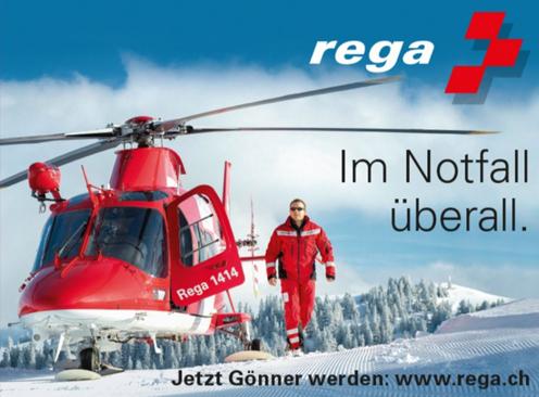 REGA mit Helikopter vor Ort