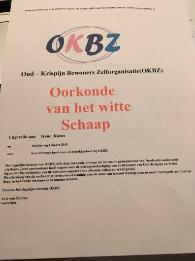 OKBZ Oorkonde