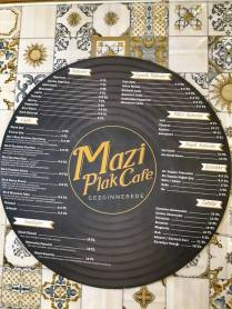Mazi Plak Cafe menü