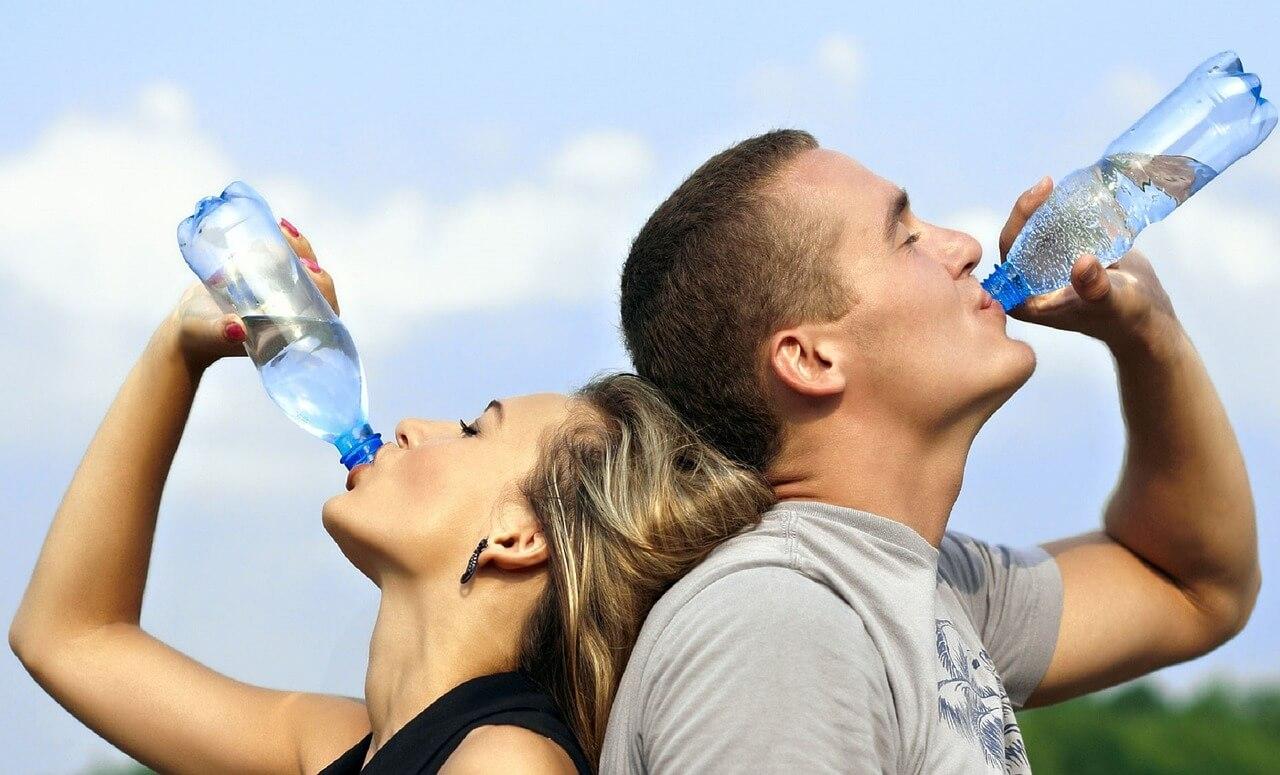 veel water drinken
