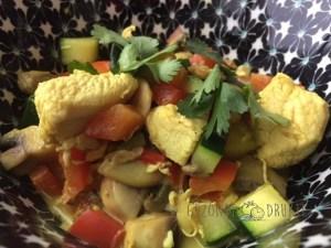 wok met kip en curry