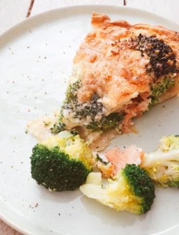 quiche broccoli en zalm
