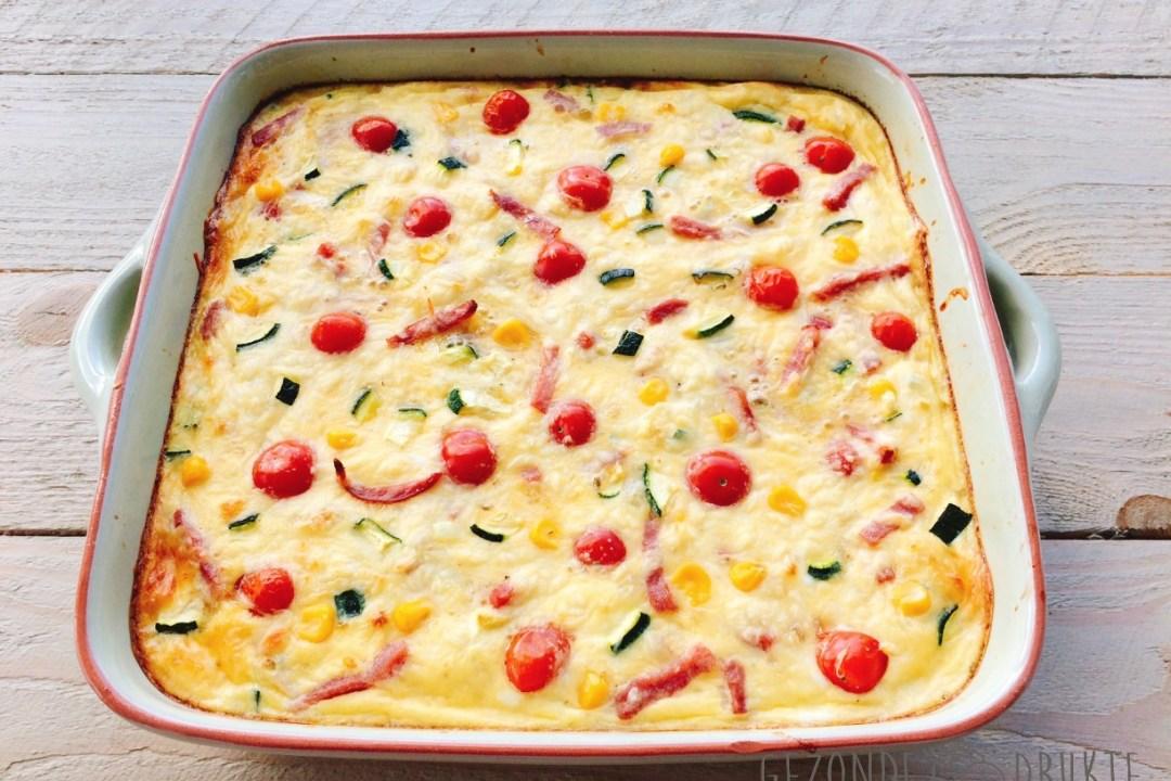 Frittata uit de oven courgette tomaat
