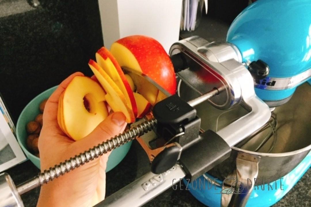 appel spiraal gezonde drukte