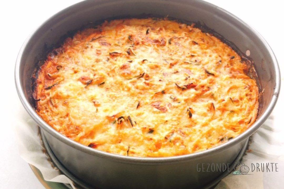 Courgetti spaghetti taart gezond gezonde drukte