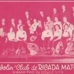 Le Mandolin' Club de Ricada Mathorez Grand Prix du Disque 1954