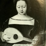 The Master of Half-figures : Young girl with a lute