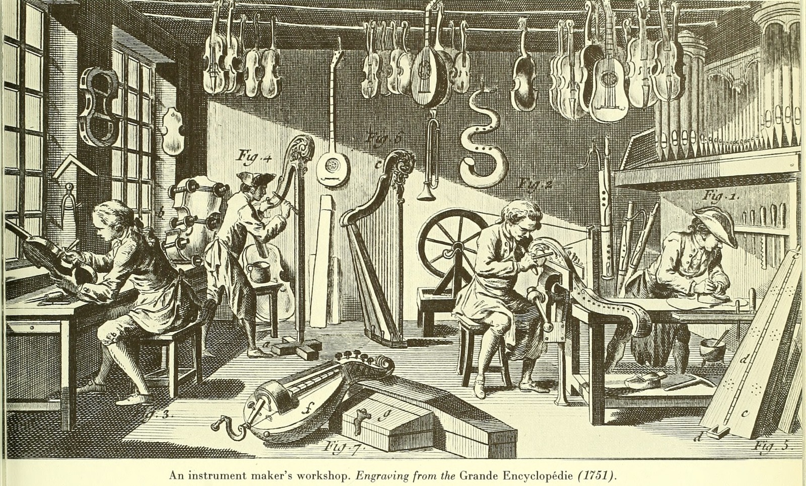 An instrument maker's workshop