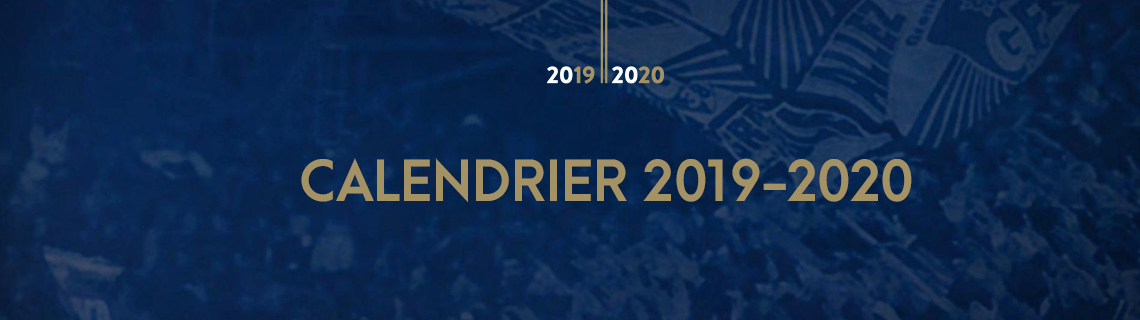 Calendrier Clermont Foot.Calendrier 2019 2020 Gf38gf38