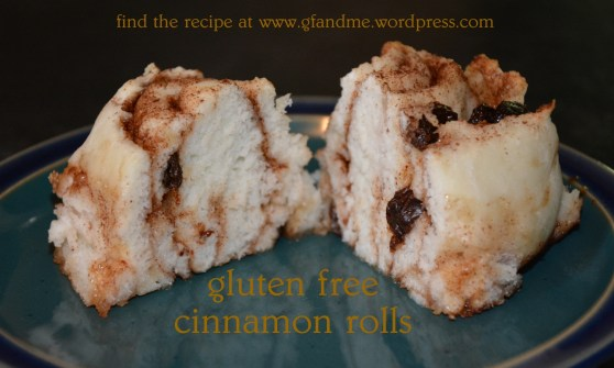 cinnamon bread rolls. gfandme 2013.