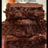 dark chocolate quinoa brownies with nutella cream cheese icing – these are not your six-year-old's brownies