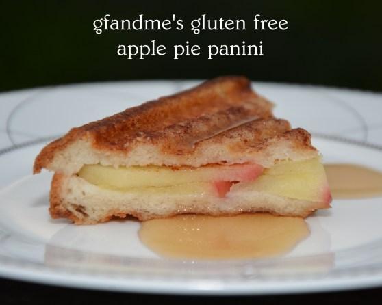 gluten free apple pie panini