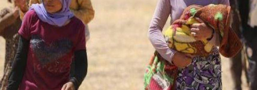 Yezidi mother with three children freed from ISIS terrorist group in Syria