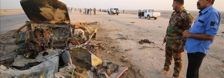 ISIS-planted roadside bomb killed three Iraqi workers in Fallujah