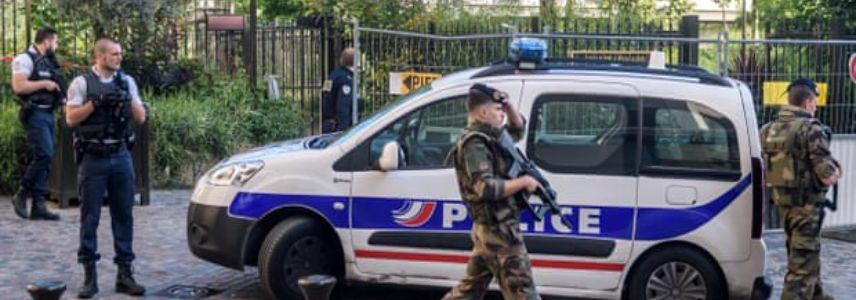 French police search home of man suspected of driving into soldiers