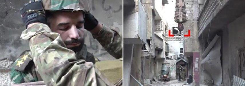 ISIS terrorists turn Syrian soldier into airborne bomb