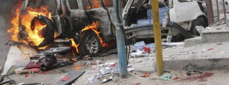 Nine people killed in powerful explosion near a mall in a busy market in Mogadishu