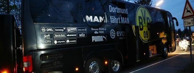 Three bombs exploded near Borussia Dortmund bus before Champions League football match