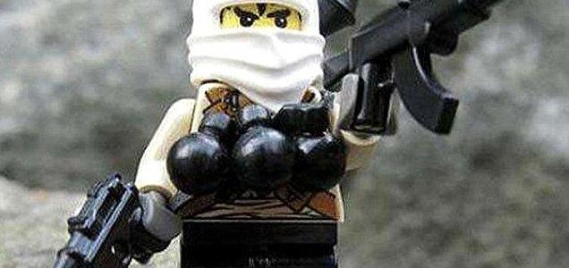 Fake 'Islamic State Lego' including decapitated heads and figures armed with chainsaws are being sold to Australians