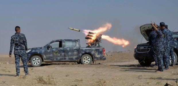 ISIS launches rocket-mounted vehicle attack against US-backed Iraqi troops in Mosul