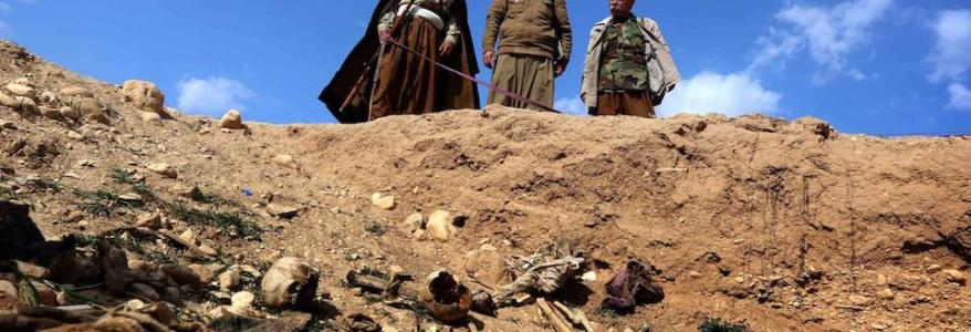 Mass graves of Yezidis under threat of disappearance in Sinjar