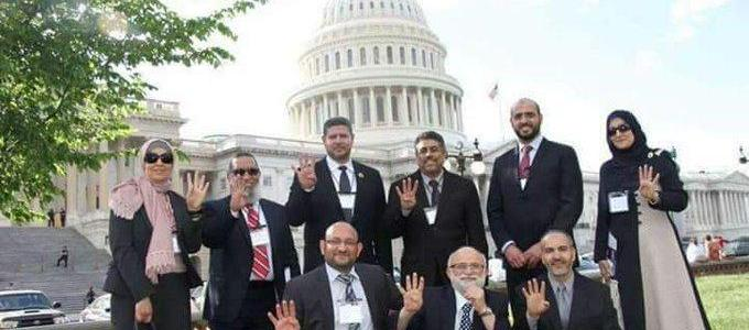 Muslim Brotherhood supporters openly showed their terrorist support during Capitol Hill visits