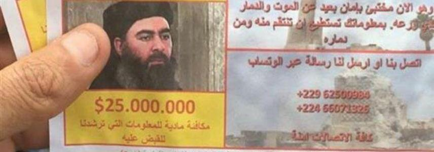Iraqi military planes drop $25 million reward leaflets for ISIS leader head