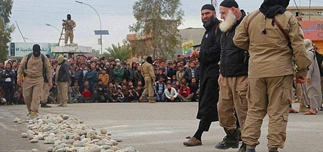 Two teenage girls are stoned to death by ISIS terrorists