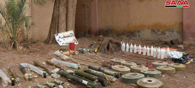 Network of Islamic State tunnels that contain weapons discovered in Qurea town in Deir Ezzor