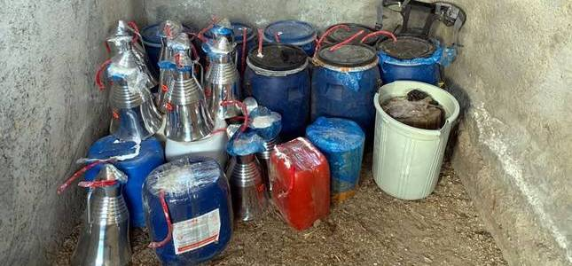 Turkish security forces seize two tons of explosives hidden by terrorists