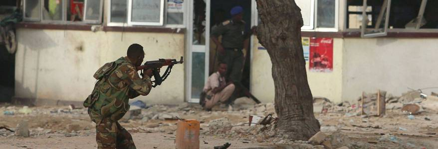 Four civilians and a soldier were killed in terrorist attack on the Somalian army