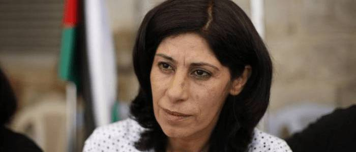 The Palestinian politician Khalida Jarrar who turned terrorist