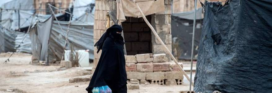 Turkish woman promotes fundraising effort for widows of Islamic State nartyrs in Al-Hol camp In Syria