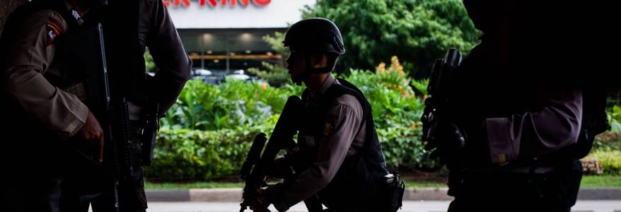 Indonesian police arrested six terrorist suspects in Central Java