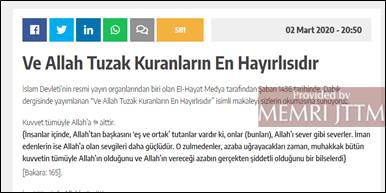 GFATF - LLL - Turkish website posts Islamic State videos, articles and editorials 13