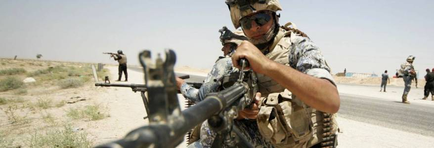 Iraqi security elements injured in an explosion during operations against Islamic State terrorist group