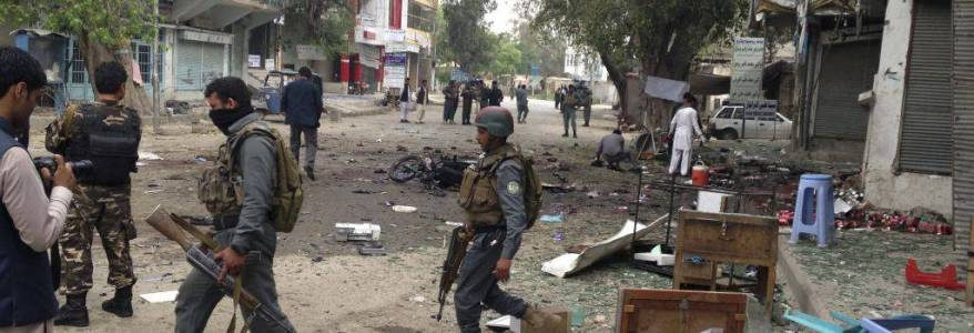 Suicide bomber killed three and injured at least fifteen civilians in the latest terrorist attack in Afghanistan