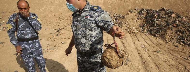 Three bodies of an officer and two security members killed by the Islamic State found in Kirkuk
