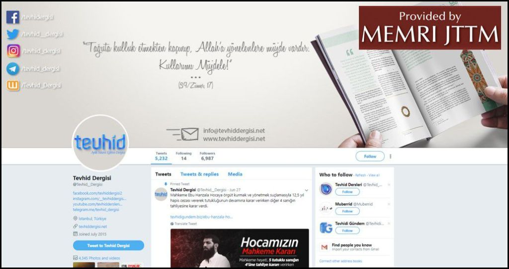 GFATF - LLL - Turkish Islamic State emir continues to operate through dozens of social media accounts 31