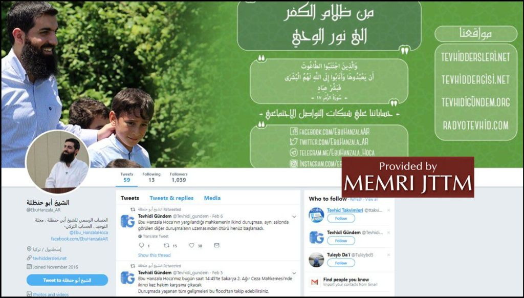 GFATF - LLL - Turkish Islamic State emir continues to operate through dozens of social media accounts 36