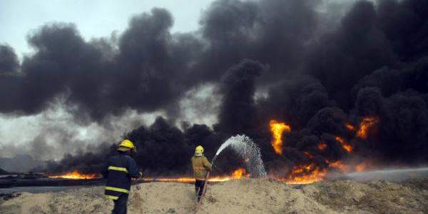 Islamic State terrorist group uses fire war to distract the security services