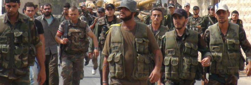Syrian Army forces involved in heavy clashes with the Islamic State terrorists in eastern Homs
