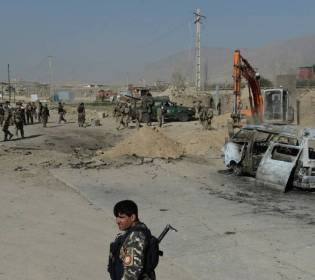 GFATF - LLL - Suicide car bomb hits security checkpoint in Maidan Wardak province in Afghanistan